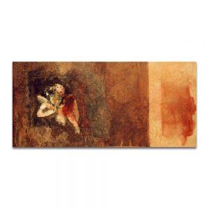 Cupido sin carcaj.Técnica mixta sobre madera. 18x37 cm.