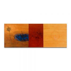 Dogma. Técnica mixta sobre madera. 75x195 cm.