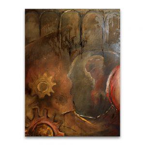 El trauma moderno # 1. Técnica mixta sobre lienzo. 130×97 cm.
