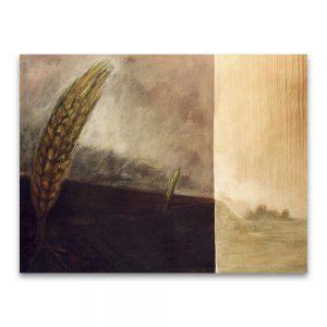 Espigas. Técnica mixta sobre lienzo. 114×146 cm.