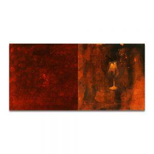 Esto no es la sangre. Técnica mixta sobre madera. 46x92 cm.