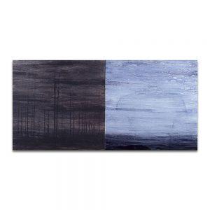Frontera del paraíso. Técnica mixta sobre madera. 60×120 cm.