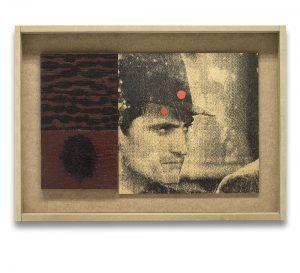Furia. Monotipo, pintura y collage sobre madera. 28×40 cm.