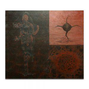 Generativa. Técnica mixta sobre madera. 120×135 cm.