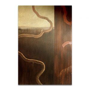 Hemisferios del sueño de opio. Acrílico sobre lienzo. 195×130 cm.