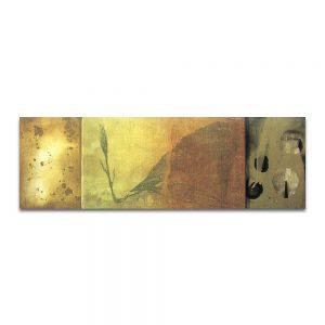 La grieta humana. Adán. Técnica mixta sobre madera y lienzo. 27 x 83 cm.
