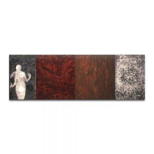 La grieta humana. Eva. Técnica mixta sobre madera y lienzo. 27 x 83 cm.