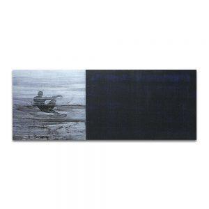 La noche de Adán. Técnica mixta sobre madera y lienzo. 60x152 cm.