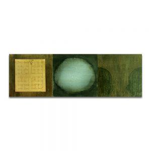 Litoconsorcio II. Técnica mixta sobre madera y hierro. 30x90 cm.