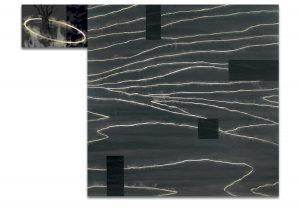 Luz. Técnica mixta sobre madera, impresión digital sobre lienzo. 120×157 cm.