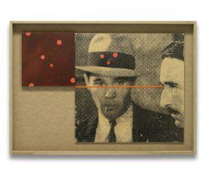 Obsesión. Monotipo, pintura y collage. 43×61 cm.