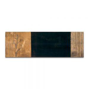 Paisaje con espuela. Técnica mixta sobre madera. 40x120 cm.