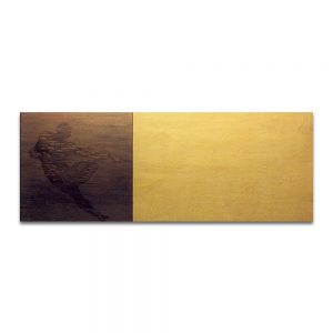 Paisaje seminal. Técnica mixta sobre madera. 75 x 195 cm.