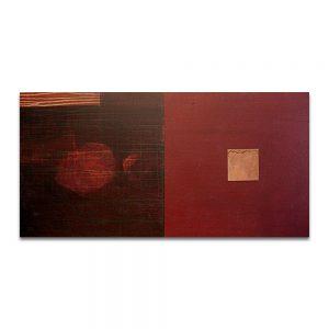Pulsión. Técnica mixta sobre madera y cobre. 60x120 cm.