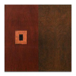 Regeneración. Técnica mixta sobre madera. 60x60 cm.