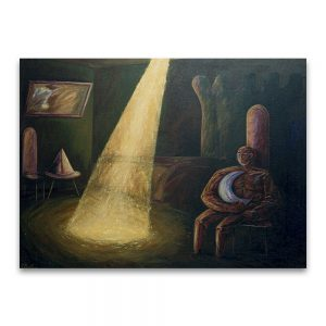 1989: VI CERTAMEN JUVENIL ARAGONÉS DE ARTES PLÁSTICAS. Accésit Pintura. Sin poder salir .Acrílico sobre lienzo.97x130 cm