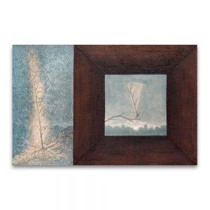 1993: VII PREMIO ISABEL DE PORTUGAL. 1º Premio de Pintura. Terral. Técnica mixta sobre lienzo. 100×150 cm.