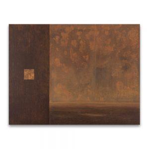 1994: VII CONCURSO DE PINTURA FRANCISCO PRADILLA. Primer Premio. Viento sur. Técnica mixta sobre lienzo, aguafuerte sobre cobre. 89×116 cm.