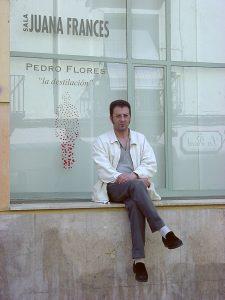 Pedro Flores en la sala Juana Francés de Zaragoza