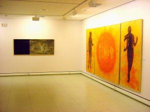 Vista exposición Humana Lux en la sala de Ibercaja en Zaragoza