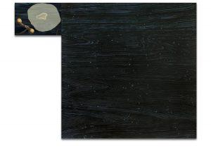 Vuelo. Técnica mixta sobre madera, impresión digital sobre lienzo. 120×157 cm.