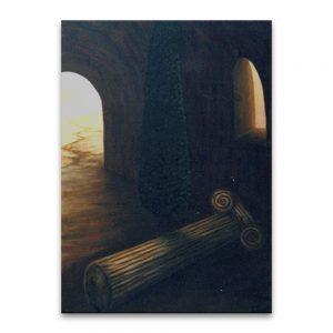Ciprés del olvido .Acrílico sobre lienzo.100x54 cm