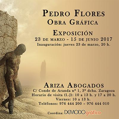 Detalle invitación de la exposición de Obra Gráfica en Ariza Abogados
