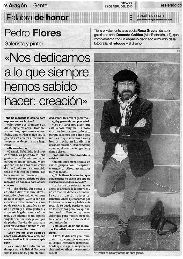 Entrevista en El Periódico de Aragón