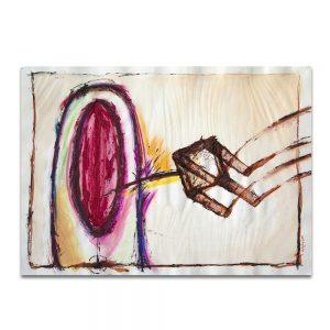 Femenino. Técnica mixta sobre papel. 32×45 cm.