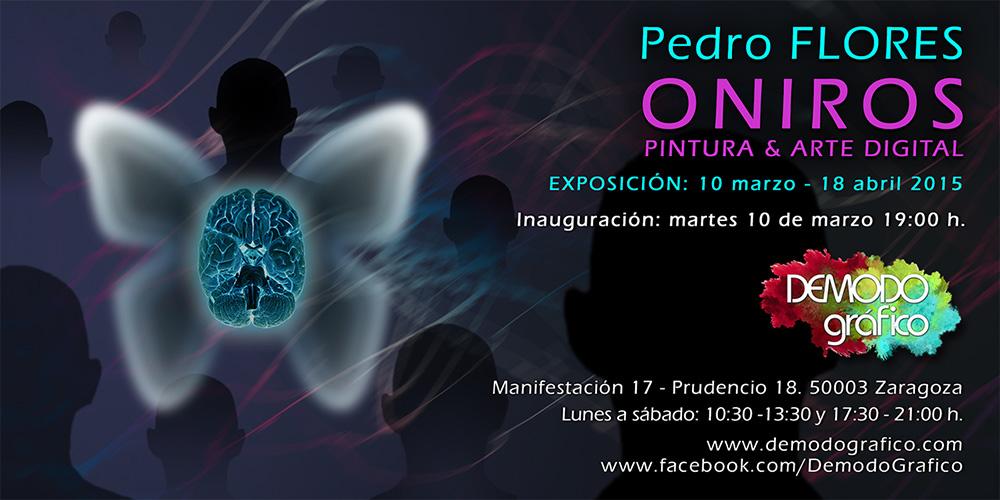 Invitación exposición Oniros en Demodo gráfico