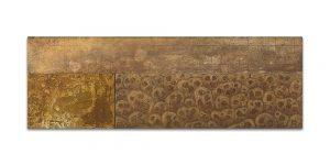 Istmos # 6. Técnica mixta sobre madera, aguafuerte sobre hierro. 40x120 cm.