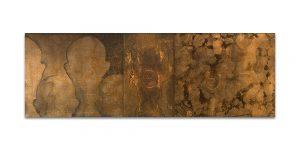 Istmos # 7. Técnica mixta sobre madera. 40x120 cm.