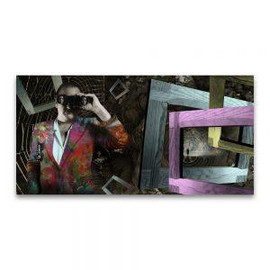 La chaqueta americana de Manolo. Collage digital.