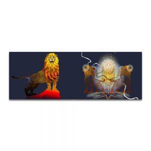 El león como símbolo pintado. Boceto preparatorio.