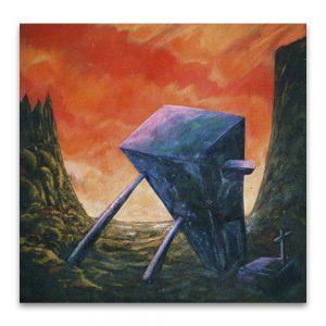 Sepulcro para un pensamiento .Acrílico sobre lienzo.150x150 cm