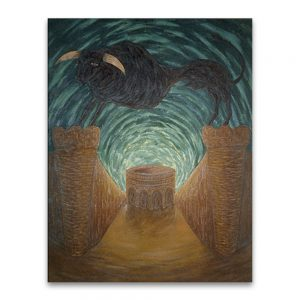 Toro erguido .Acrílico sobre lienzo.195x150 cm